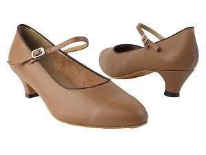 "1682_3008 133 Coffee Brown PU with 1.3"" Cuban Heel in the photo with 1.5"" Medium Heel in the photo"