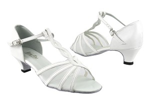 "1692 White Leather_White Mesh with 1.3"" Heel in the photo"