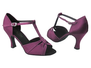 "1703 111 Purple Satin with 3"" Heel in the photo"