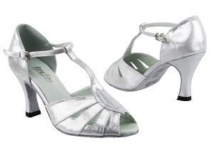 "2702 259 Silver Satin with 3"" Heel in the photo"