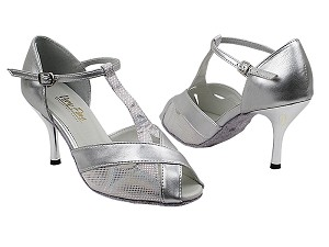 "2703 86 Silver Laser_151 Soft Silver Trim with 3"" Slim Silver Plated Heel in the photo"