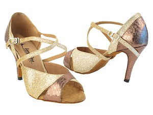 "2828LEDSS Gold Stardust_113 Ultra Copper with 575_3.5"" Stiletto Heel in the photo"