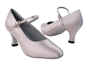 3008_1682 233 Light Pink Satin with 2899_2.5 inch Low Heel in the photo