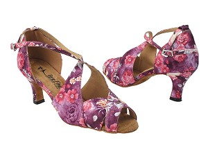 "3030LEDSS 152 Purple Champagne Flower Satin with 2.5"" Heel (2899) in the photo"