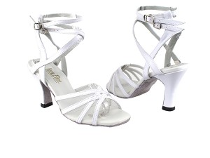 "5009 White Leather_White Mesh with 3"" Heel in the photo"