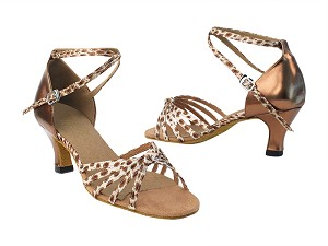 "6005 164 Babylon Shell_F_S_171 Dark Tan Gold PU_B with 2.5"" low heel in the photo"