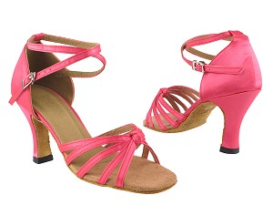 "6005 246 Pink Satin with 3"" Heel in the photo"
