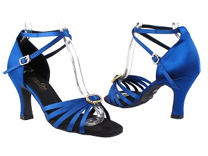 "6005 247 Gem Blue Satin_Stone with 3"" Heel in the photo"