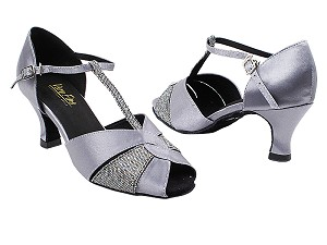 "6006 263 Grey Satin_172 Grey Scale with 2.5"" Heel in the photo"