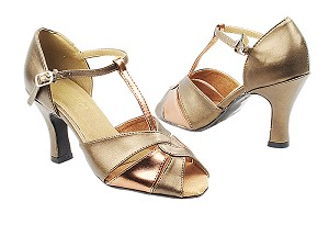 "6006 59 Copper PU_X_171 Dark Tan Gold with 3"" Heel in the photo"