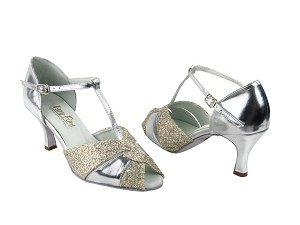 "6006 Gold Sparklenet & Silver with 2.75"" Heel in the photo"