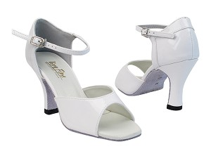 "6012 210 White Patent PU_6024 BackStrap with 3"" heel in the photo"