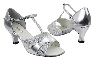 "6016 107 Silver Scale_151 Soft Silver PU with 2.5"" Heel in the photo"