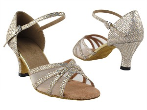 "6027 74 Gold Sparklenet_Flesh Mesh with 2.5"" Heel in th photo"