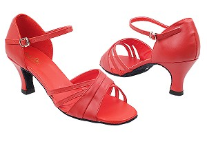"6030 Red Leather with 2.5"" Heel in the photo"