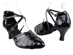 "6825 Black Patent_Whole Shoes with 2.5"" Heel in the photo"