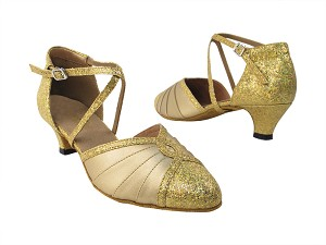"6825B 173 Light Gold Scale_59 Light Gold PU with 1.3"" cuban heel in the photo"