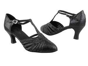 "6829 127 Black Stardust with 2.5"" low heel in the photo"