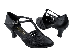 "6829 Black Leather with 2.5"" Low heel in the photo"