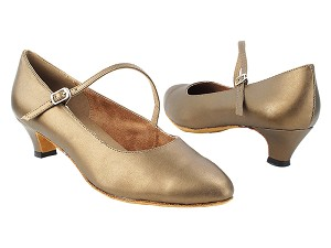 "6852 59 Copper Leather with 1.3"" Cuban Heel (387) in the photo"