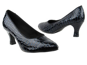 "6901 243 Purple Blue Crocodile PU with 2.5"" Heel in the photo"