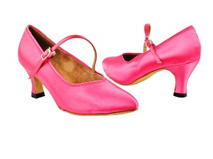 "6906 246 Pink Satin with 2.5"" Heel in the photo"