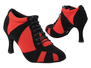 "7705LEDSS Black Nubuck & Red Knit Mesh with 3"" Heel (6812) in the photo"
