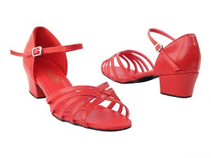 "802 175 Red Sanke with 1.5"" medium heel in the photo"