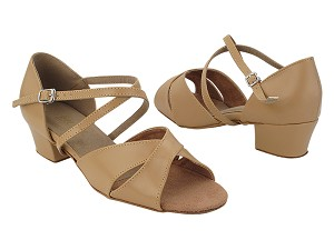 "803 157 Beige Brown Leather_X-Strap Arch with 1.5"" Heel (2001) in the photo"