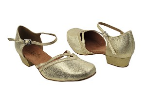 8881 21 Gold Glitter Satin_Whole Shoes