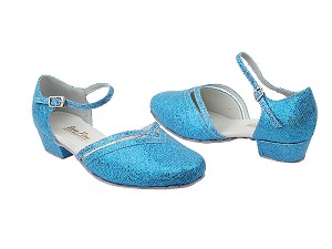 "8881 280 Blue Scale_Whole Shoes with 1"" Women Heel in the photo"
