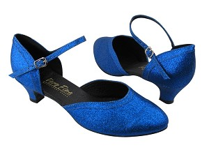 "9621 234 Blue Stardust with 1.3"" Cuban heel in the photo"