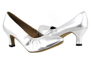 "9624 119 Silver PU with 2.5"" Heel in the photo"
