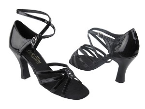 "C1606 BA60 Black Patent with 2.5"" Heel in the photo"