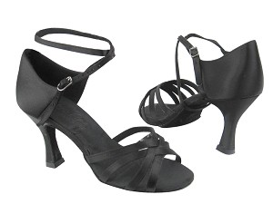 "C1606 BD12 Black Satin with 3"" heel in the photo"