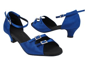 "C1620 114 Dark Blue Satin_Stone with 1.2"" Heel (5028) in the photo"