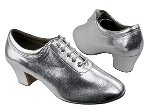 "C2601 BA32 Silver Leather with 1.6"" Medium heel in the photo"