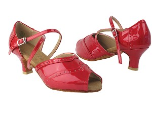 "C6035 264 Red Patent & 264 Red Patent Trim with 2"" Slim heel in the photo"