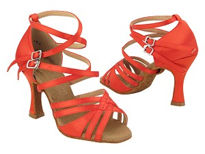 "S1006 118 Red Satin with 3"" Heel (YQG) in the photo"