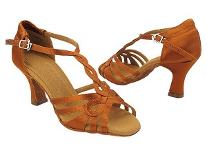 S1008 301 Copper Tan Satin_Without Rhinestone