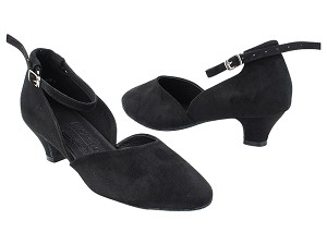 "S9129 Black Nubuck with 1.2"" Cuban Heel (5028) in the photo"