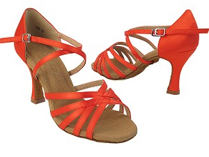 S9216 118 Red Satin with (YQG 11045) with 3 inch Heel in the photo