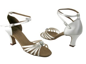 "S92311 White Satin with 2.5"" Heel (PG) in the photo"