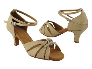 "SERA1131 Tan Leather_X-Strap Ankle with Loop with 2.5"" Heel (2040) in the photo"