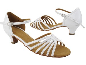"SERA1135 White Patent with 1.2"" Cuban Heel (CI) in the photo"