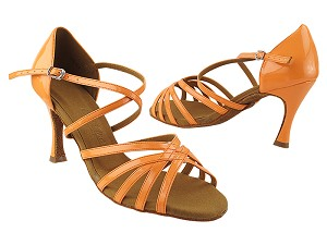 "SERA1613 228 Fluorescent Orange Patent with 3"" Flare Heel (5059) in the photo"