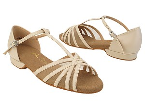 SERA16612FT 302 Light Beige Leather_Flesh Mesh