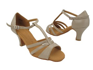 "SERA1683 Beige Leather with 2.5"" Heel (2040) in the photo"