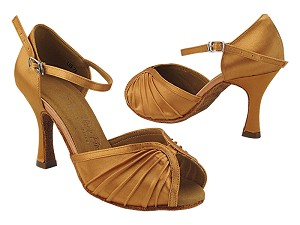 "SERA3830 153 Tan Satin with  3"" Heel (5059) in the photo"