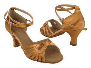 "SERA3870 211 Tan Satin_X-Strap Ankle with 2.5"" Heel (2040) in the photo"